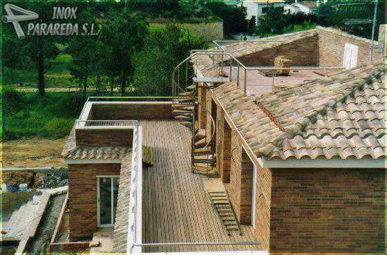 Barana i escala terrassa sol rium barandilla y escalera - Barandilla terraza ...